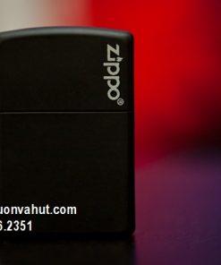 Zippo Black Matte 218zl Logo